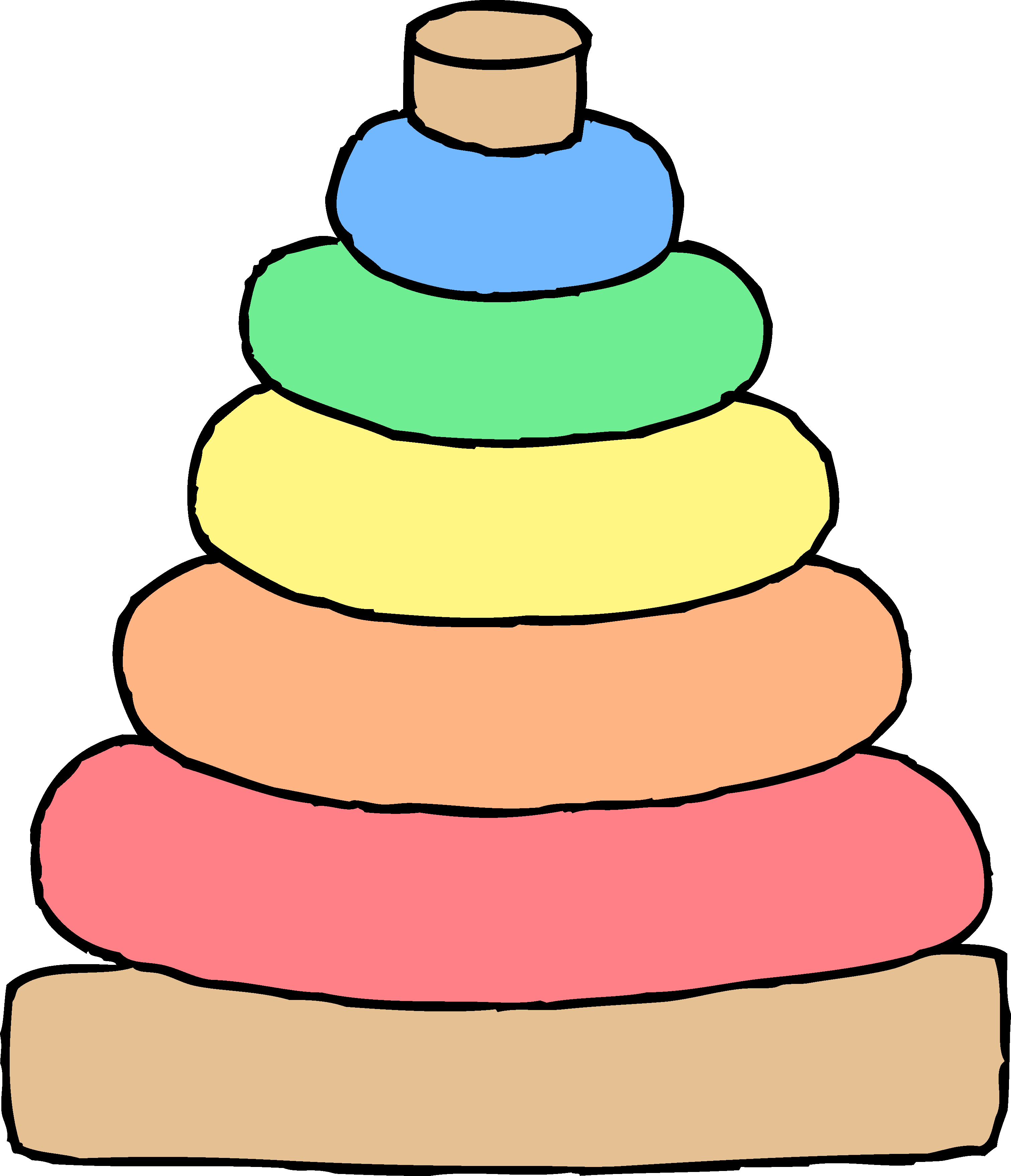 Baby Stacking Toy Clipart - Free Clip Art