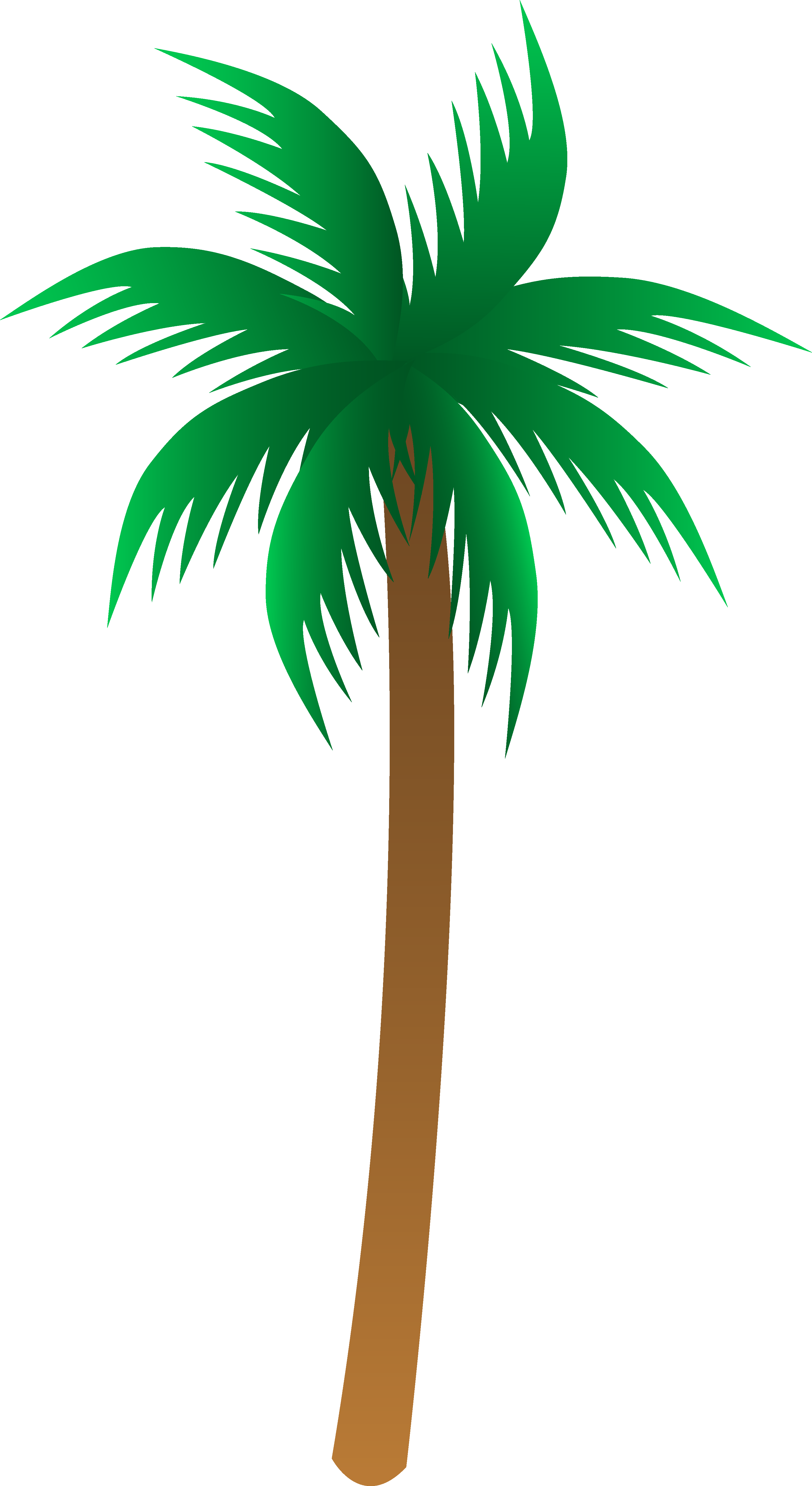Simple Palm Tree Vector  Free Clip Art