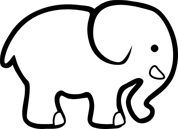 Simple Elephant Outline - Cliparts.co