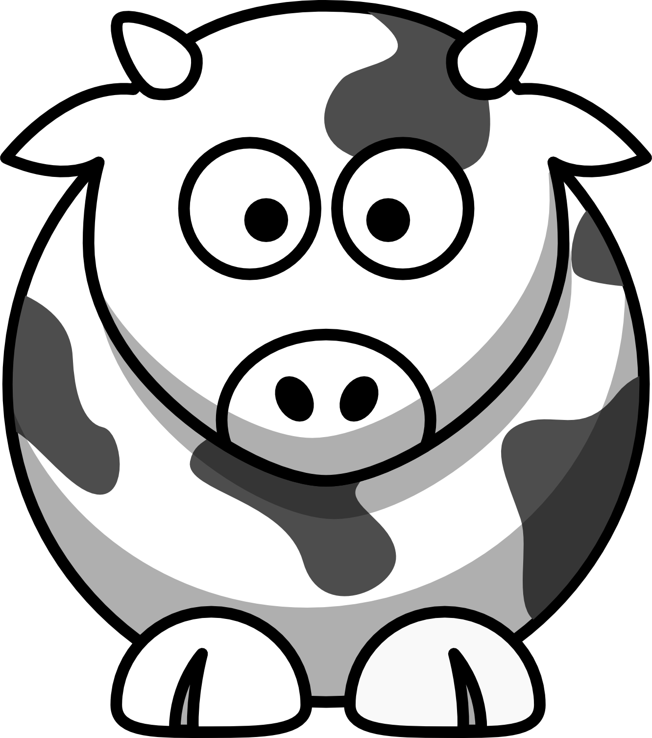 Line Drawings Of Cartoon Animals : Black and white cartoon pictures cliparts