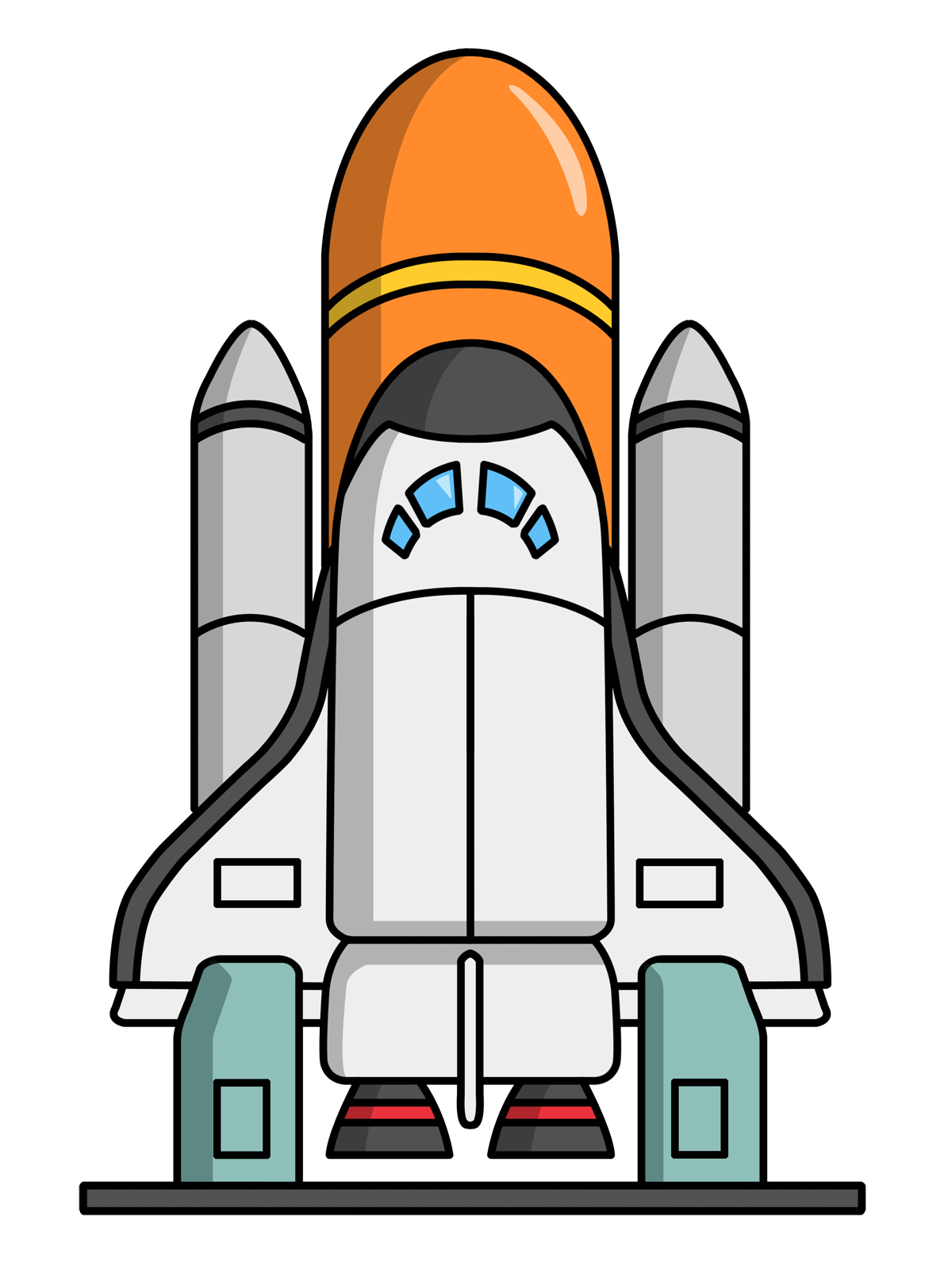 nasa rockets clip art - photo #3