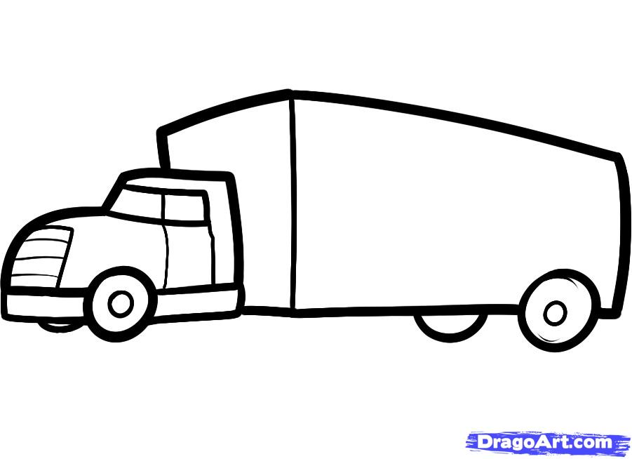 Truck Drawings For Kids