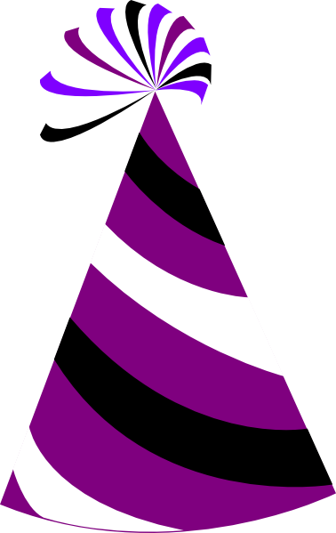 Purple And White Party Hat clip art - vector clip art online ...
