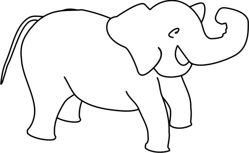 Elephant Drawing Outline Outline Drawing of an Elephant