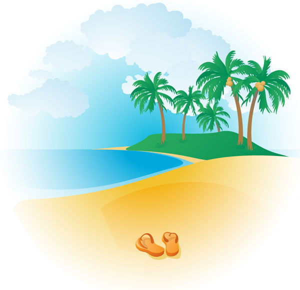 free clipart of beach - photo #5