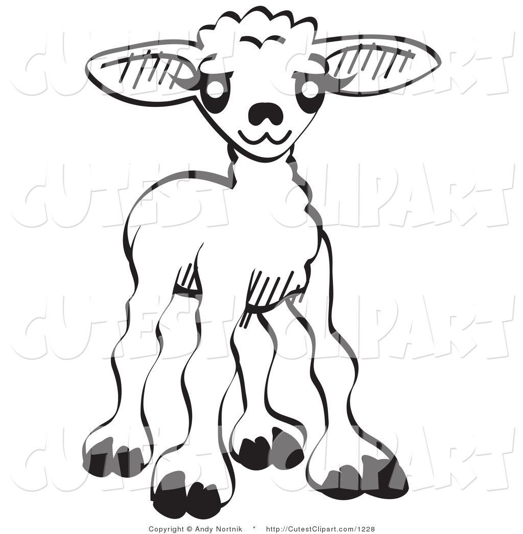 Cute Lamb Coloring Page