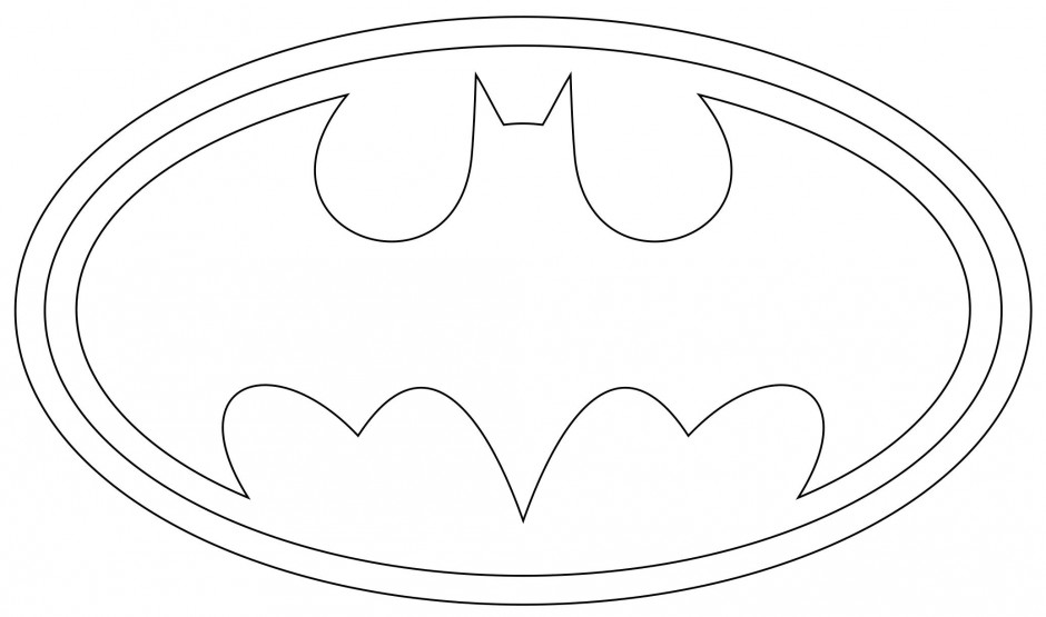 coloring pages batman printable template - photo#9