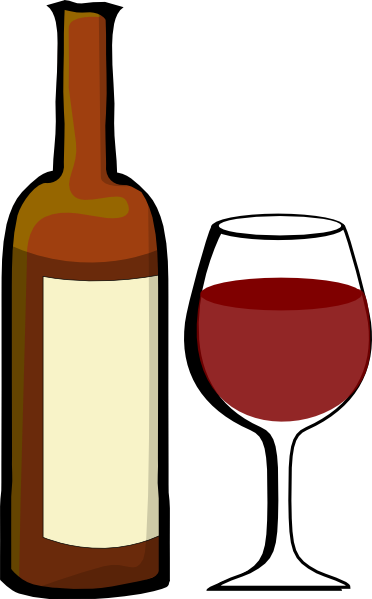 Glass Of Wine With Wine Bottle clip art - vector clip art online ...