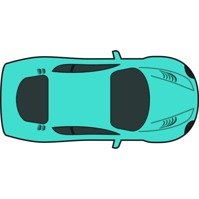 Clipart Turquois Racing Car Top View Cliparts Co