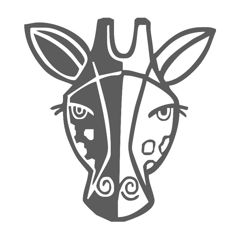Head of Giraffe face sticker