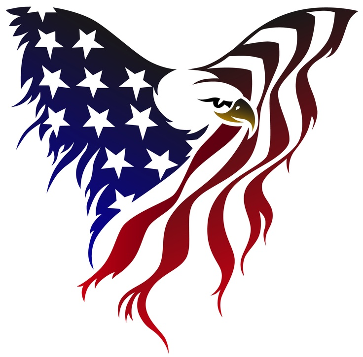 american flag eagle tattoo | American Flag Graphics | Pinterest