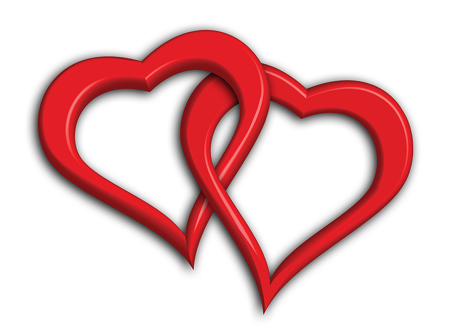 Intertwined Hearts Clip Art - Cliparts.co