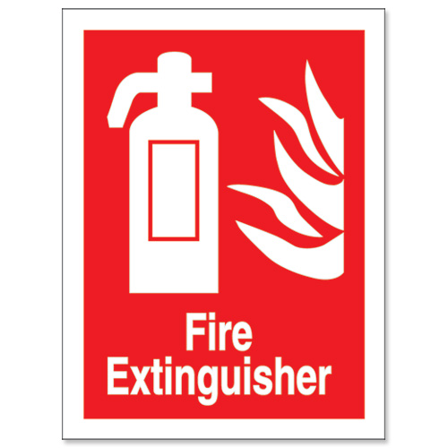 Selective image within printable fire extinguisher signs