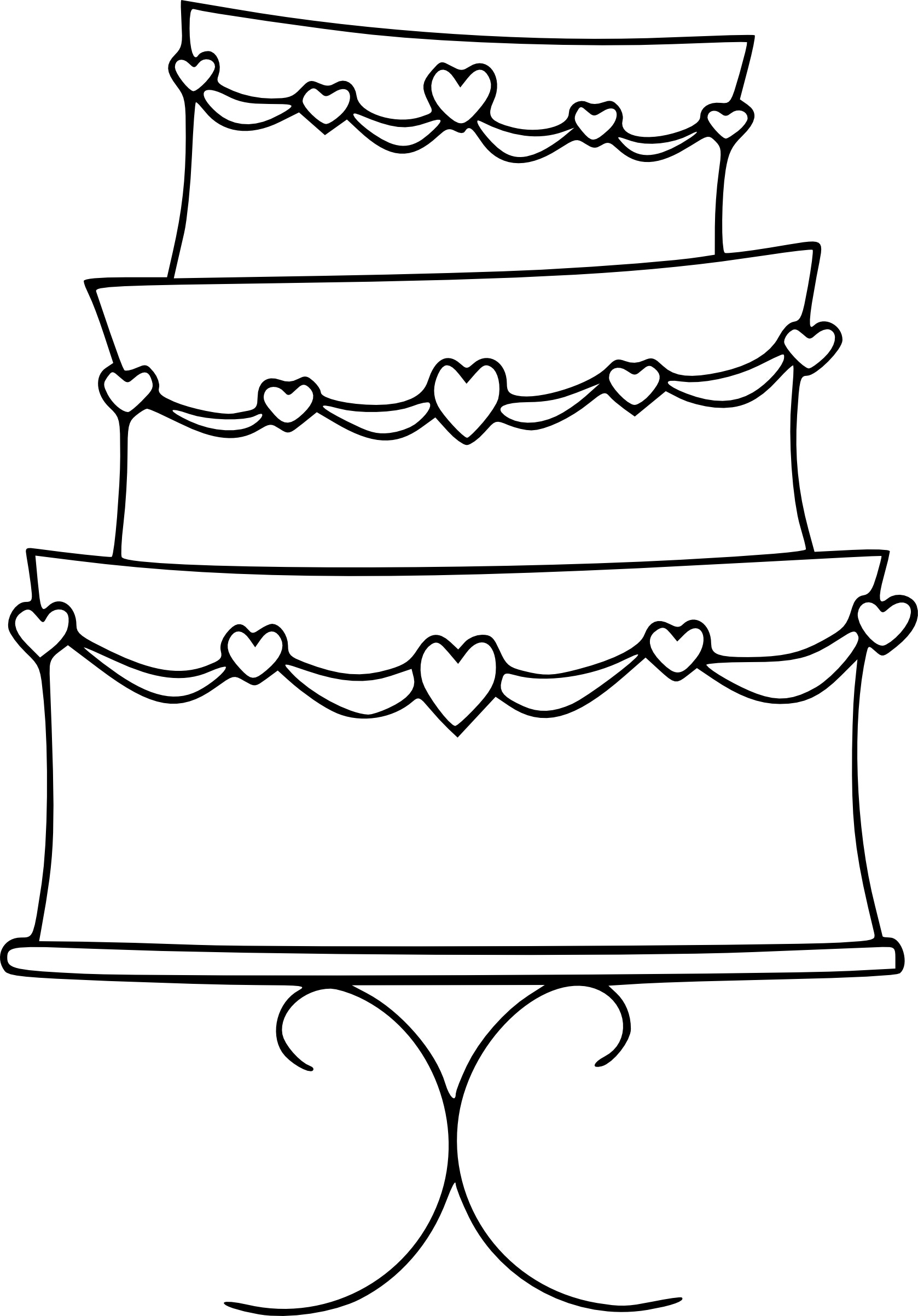 Cake Clip Art Outline : Birthday Cake Outline - Cliparts.co