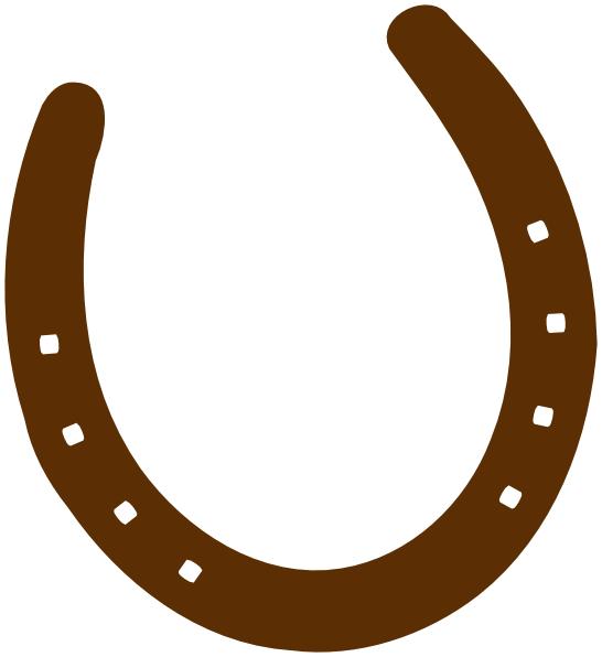 Cowboy Brown Horseshoe clip art - vector clip art online, royalty ...