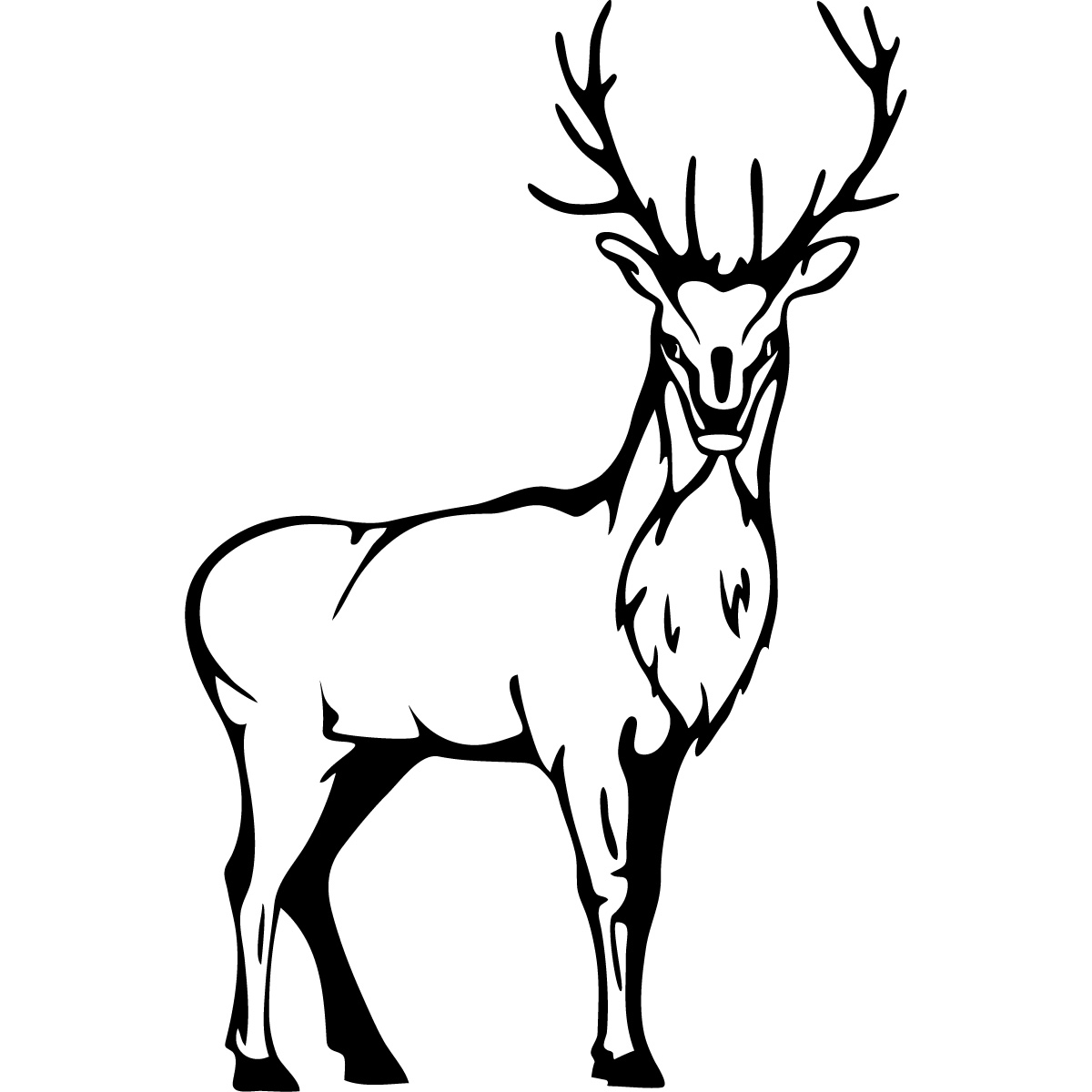 Line Drawings Of Animals Deer : Deer line art cliparts