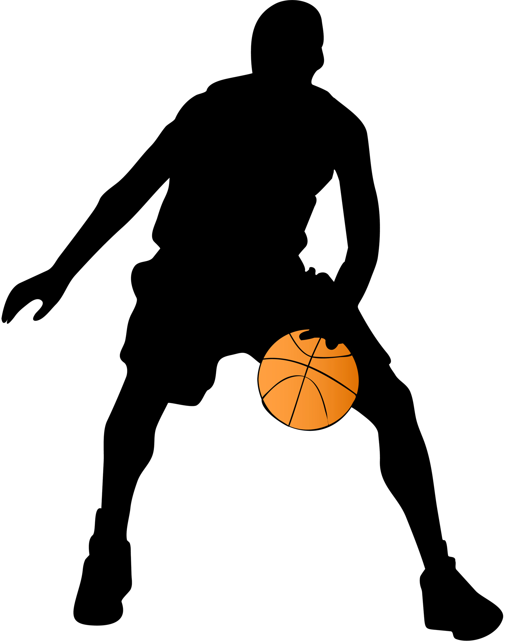 45 images of Basketball Silhouette Clip Art . You can use these free ...