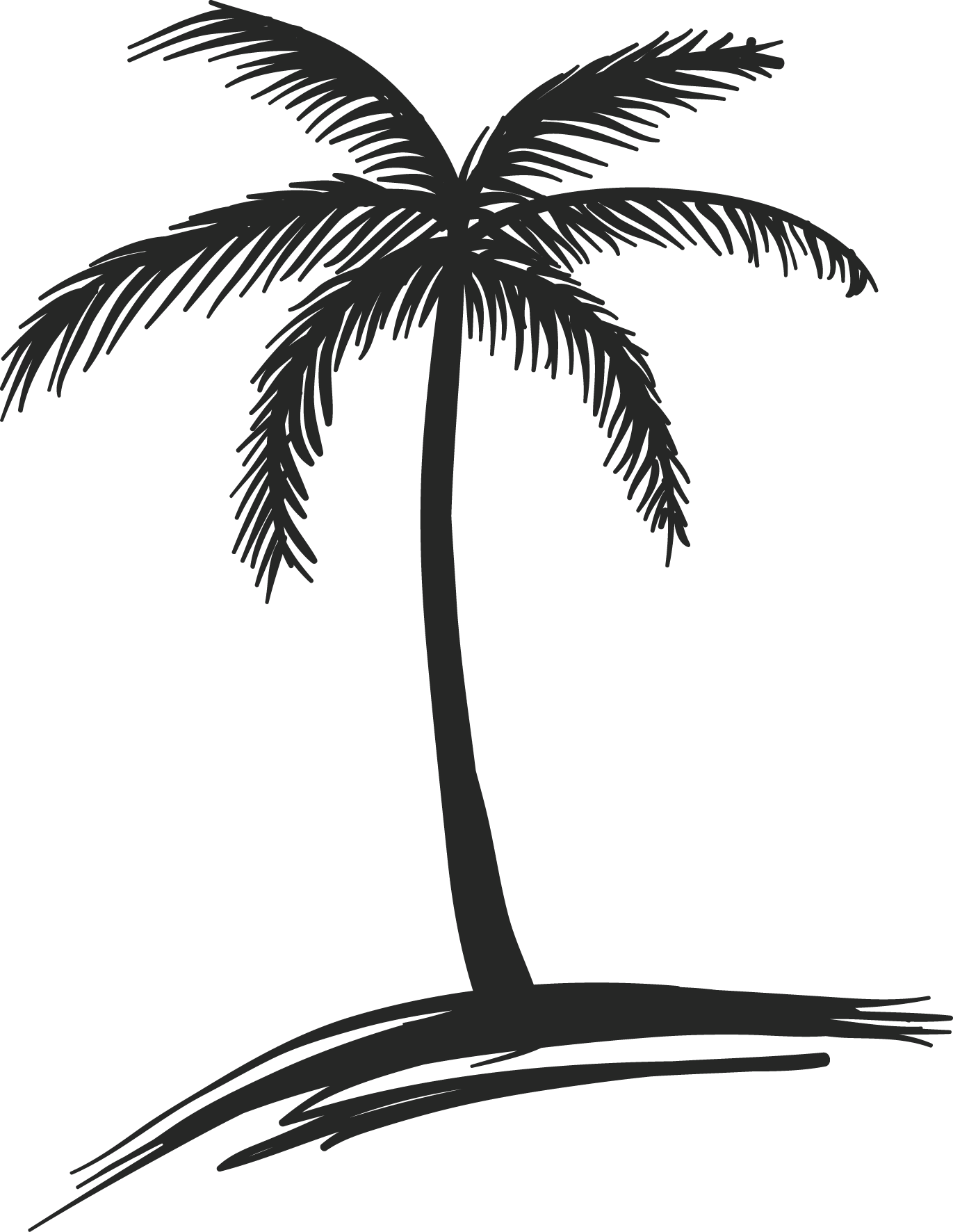 Palm Tree Drawing - Art Starts for Kids