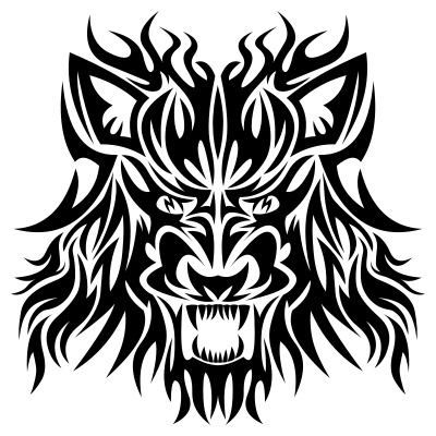 Tribal Wolf Head Tattoo Design Black Mask | Just Free Image Download