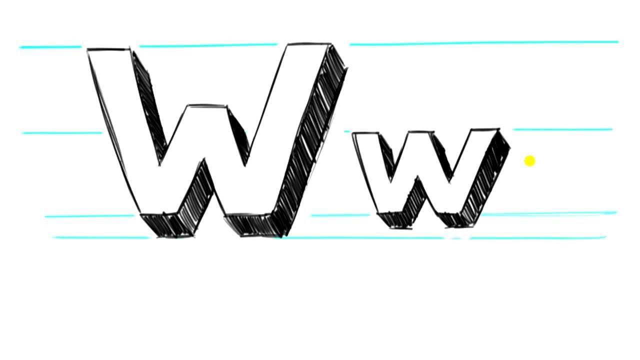 W Bubble Letter Bubble Letter Lowercase W