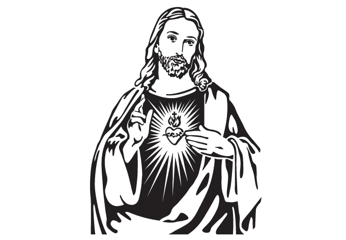 Jesus Line Drawing - ClipArt Best