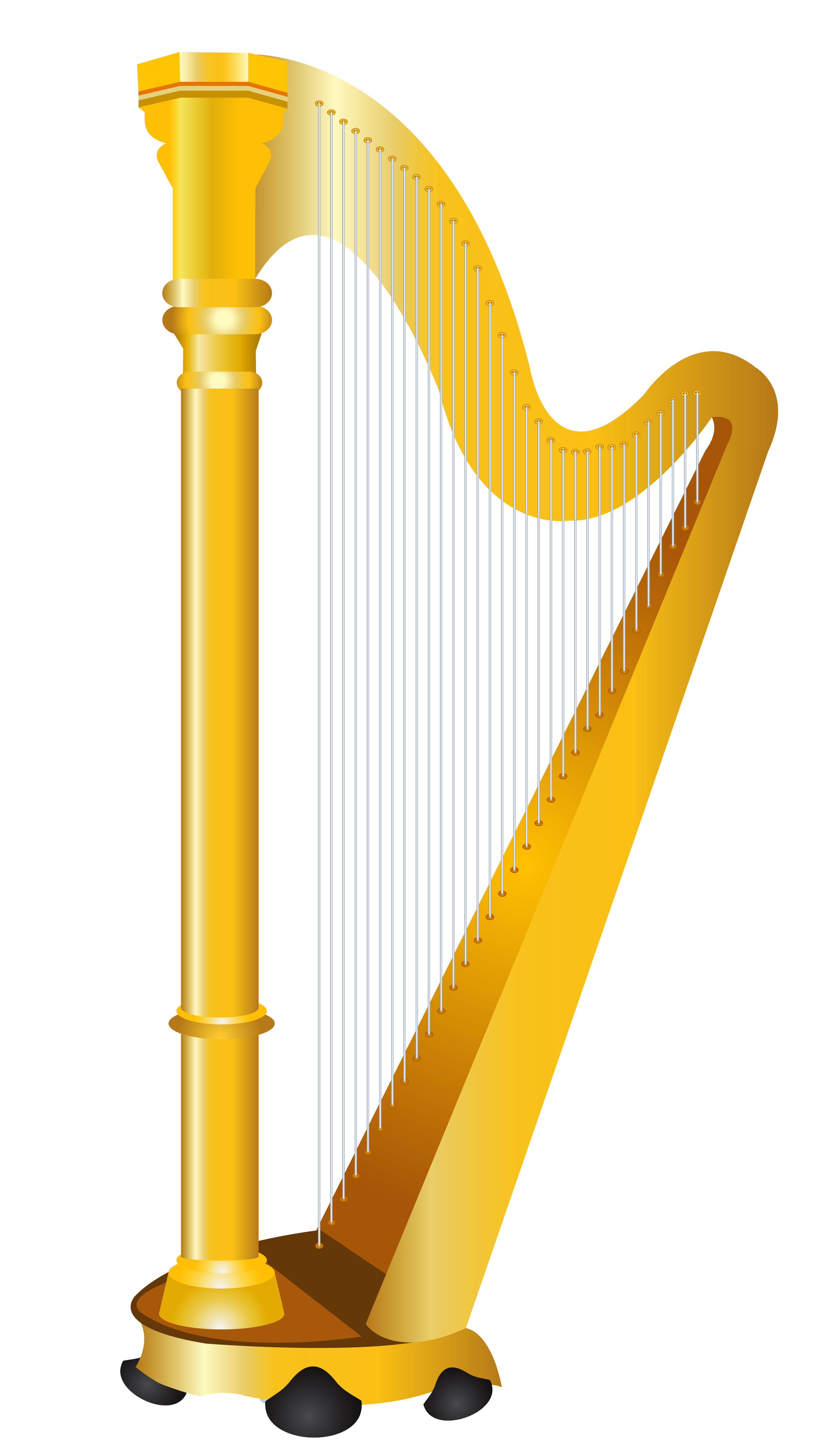 Golden Harp PNG Clipart Picture