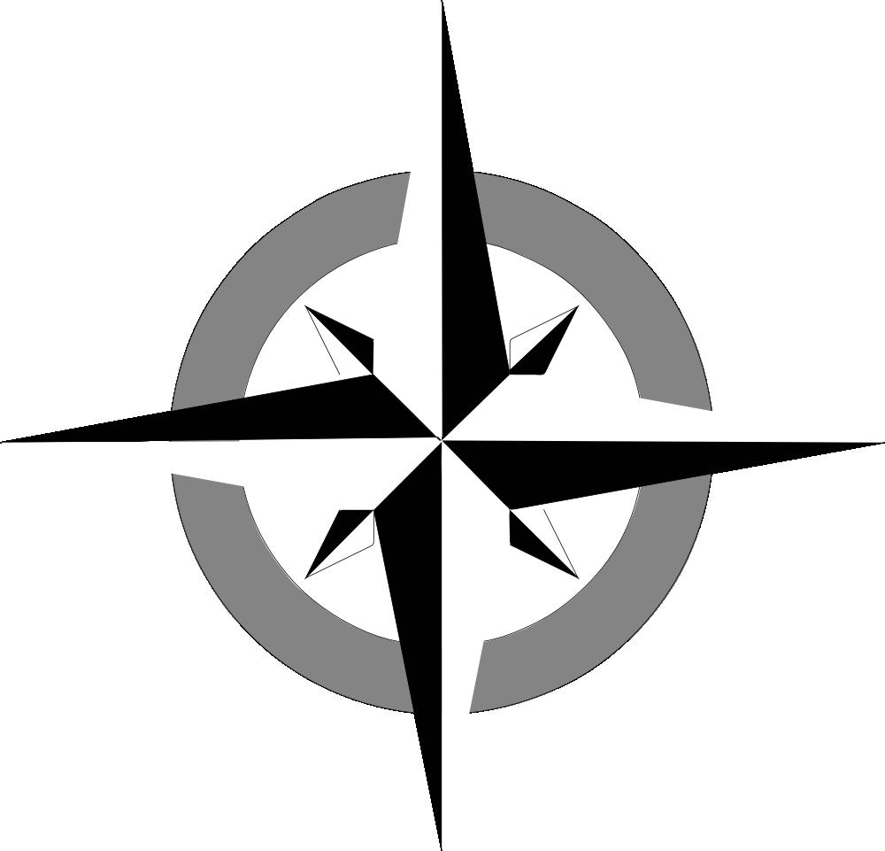 OnlineLabels Clip Art - Compass Rose 2