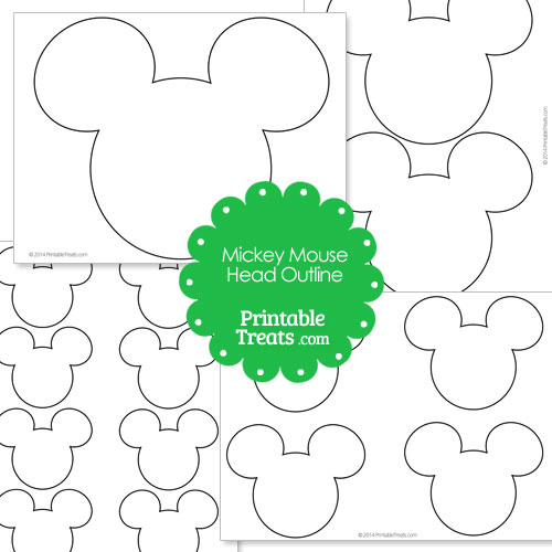 Effortless image throughout mickey mouse outline printable