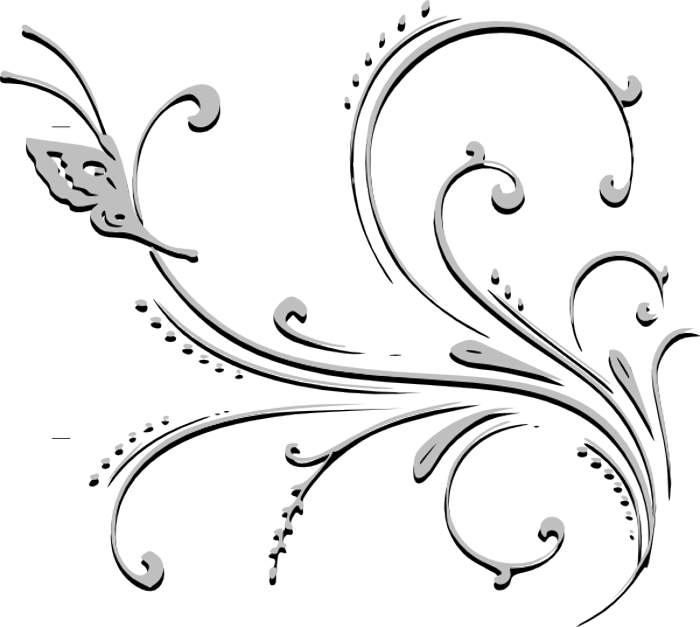 Flower Bouquet Black And White Flower Clipart Black And White
