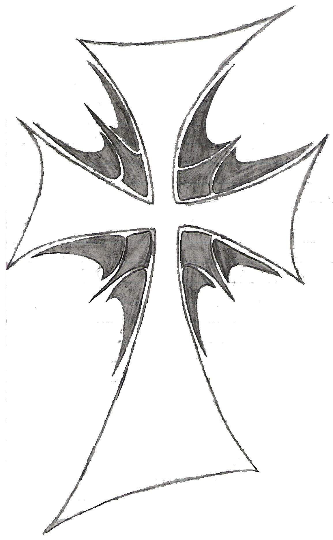 cool crosses to draw