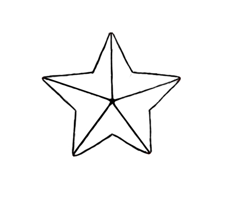 Star line drawing for How to draw a perfect star shape