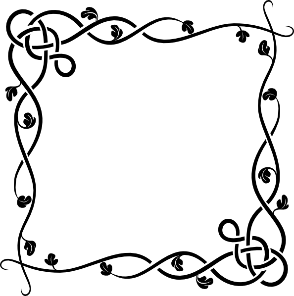 Black And White Flower Borders - ClipArt Best