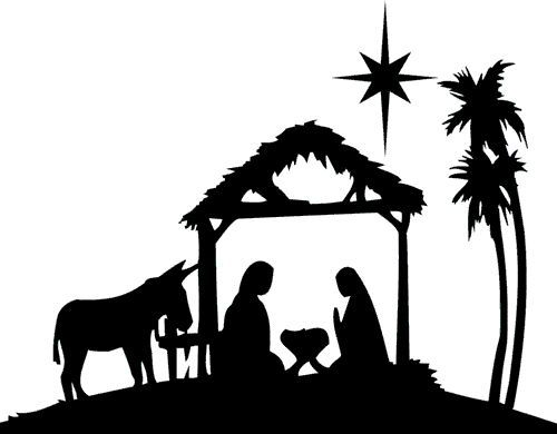Exhilarating image intended for free printable nativity silhouette