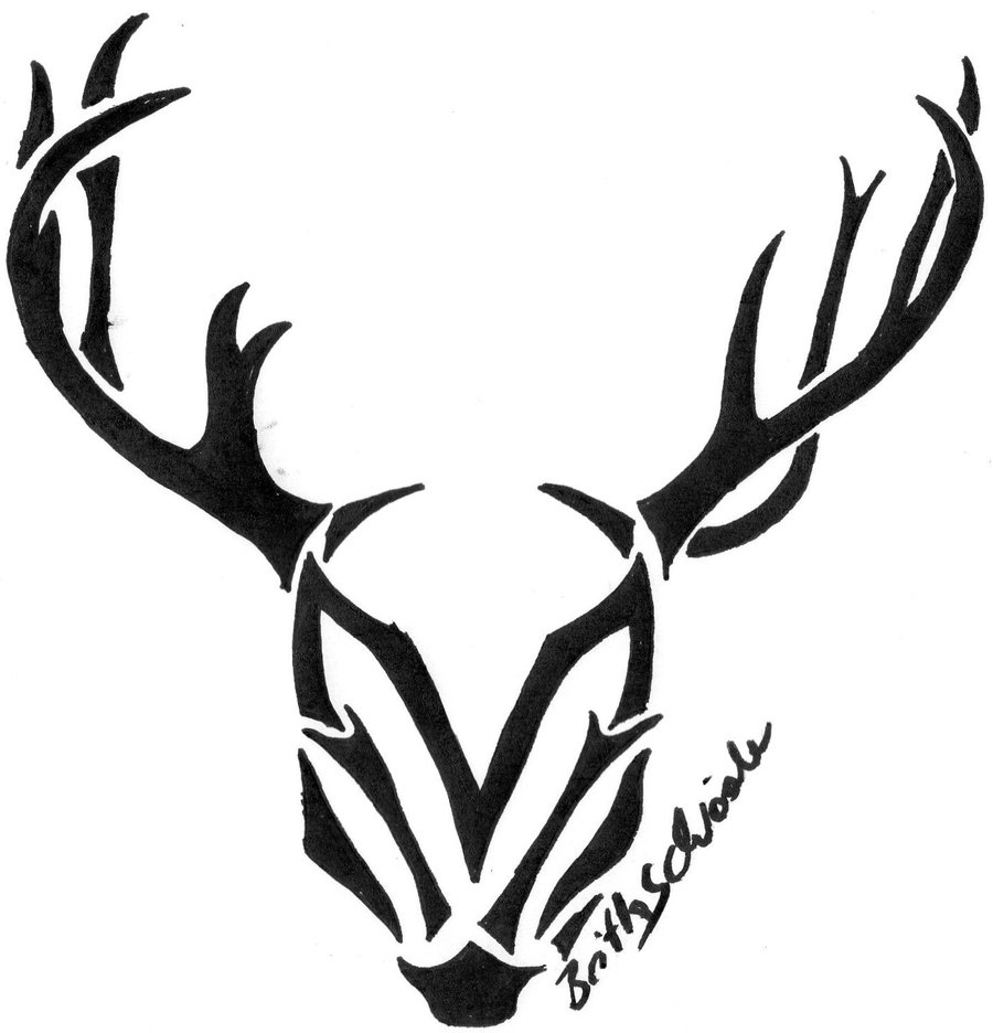 Tribal Deer Head Tattoo Sample | Tattoobite.com