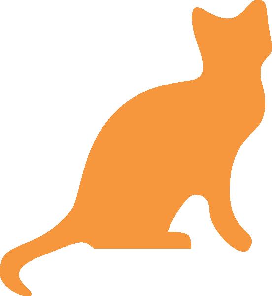Orange Cat Silhouette clip art - vector clip art online, royalty ...