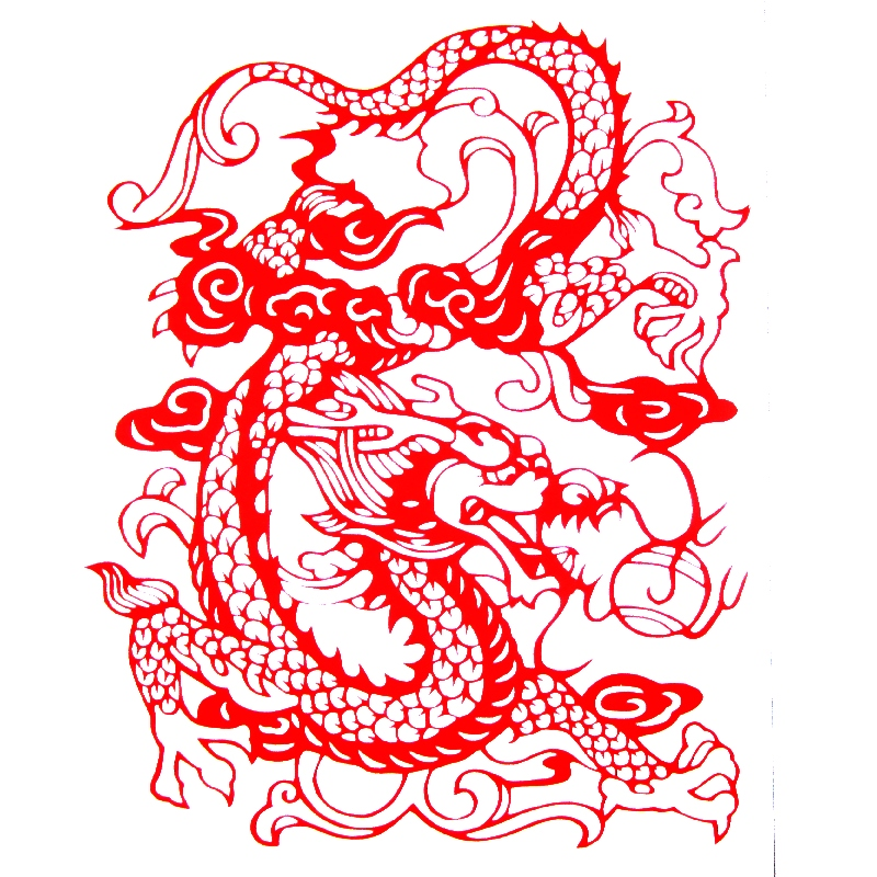 chinese paper cutting templates dragon - chinese dragon images free