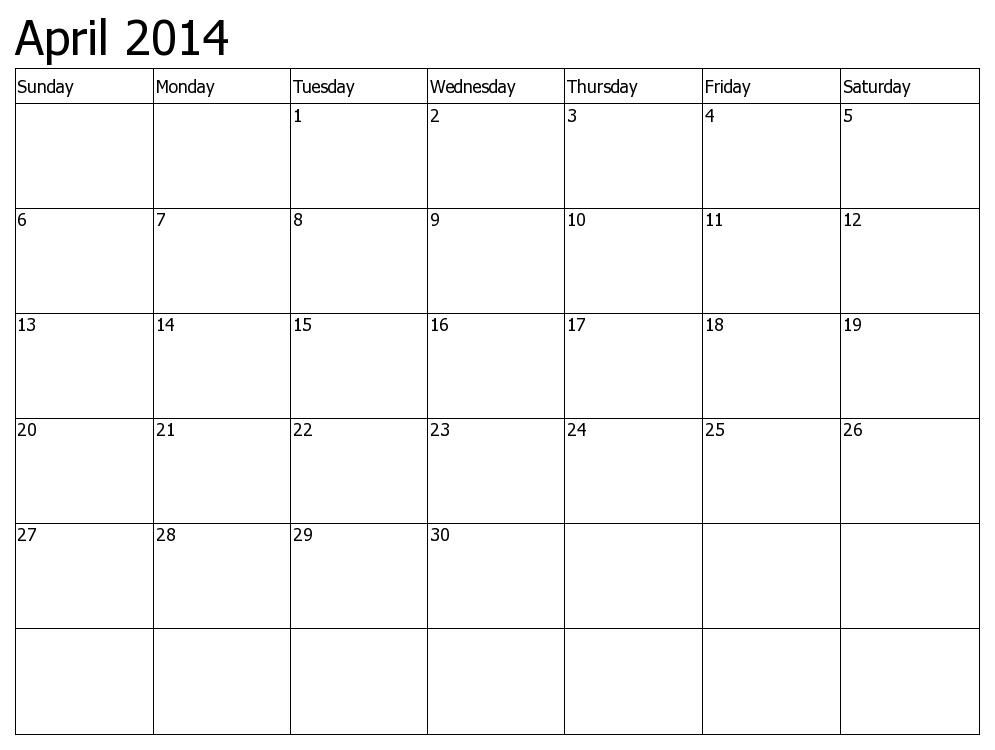 April Calendar Pictures - Cliparts.co