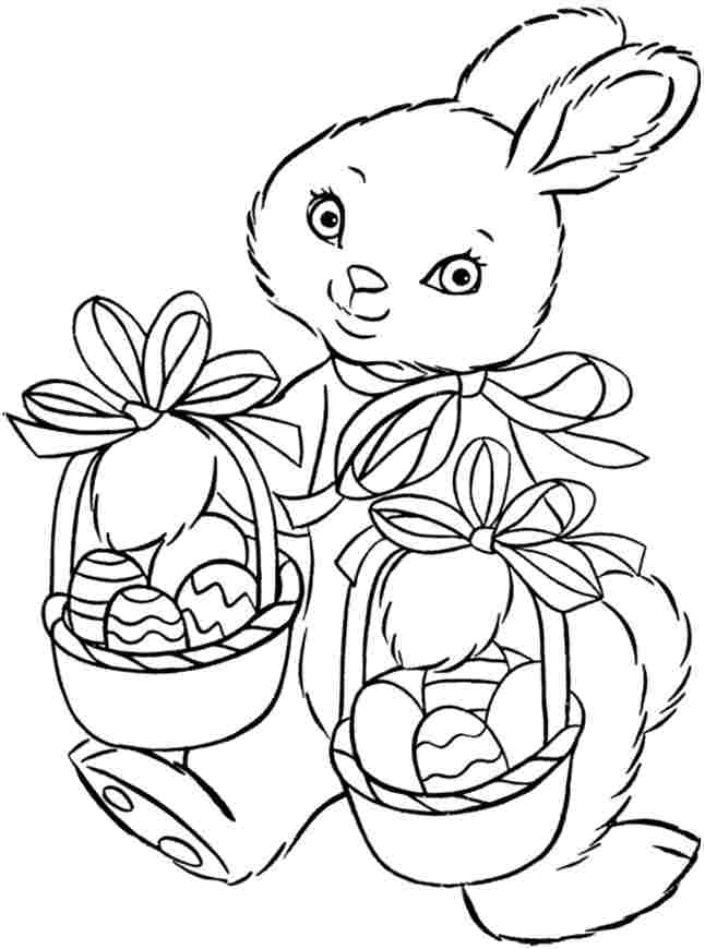 Coloring Sheets Easter Bunny Printable Free For Kids Easter Coloring Pages For Boys