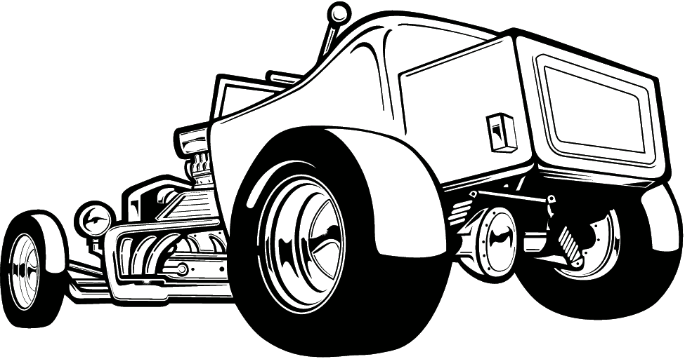 Cartoon Motorcycle Clip Art Cliparts Co Rat Rod Coloring In