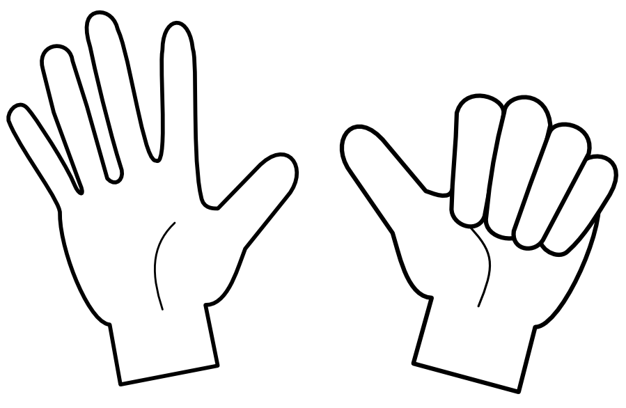 helping hands coloring page - Helping Hands Coloring Page