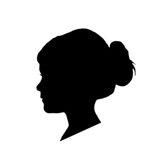 Silhouette Girl Head - Cliparts.co