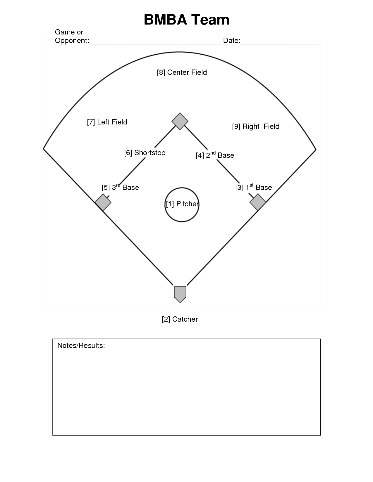 Baseball Line Up Card Template Jeppefmtk - Card template free: lineup card template
