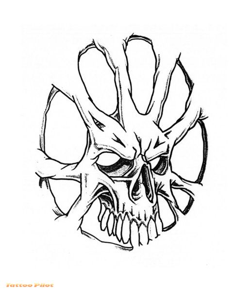 Skull Tattoo Stencils Cliparts Co