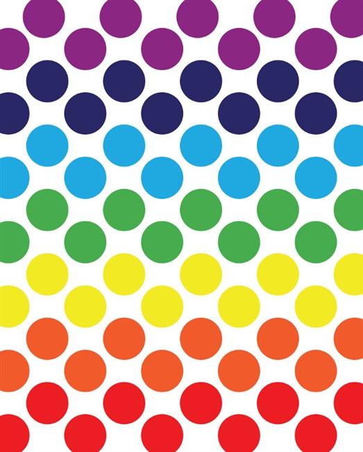 Rainbow Spectrum Polka Dot Printed Backdrop | Backdrop Express