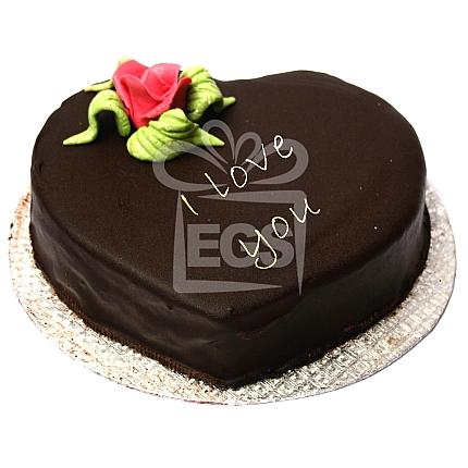 Heart Shape Chocolate Bday Cake