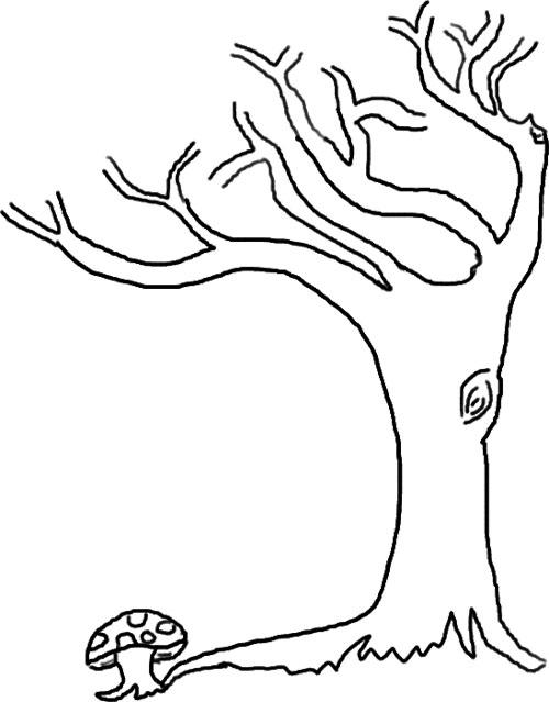 Leafless Tree Outline Printable
