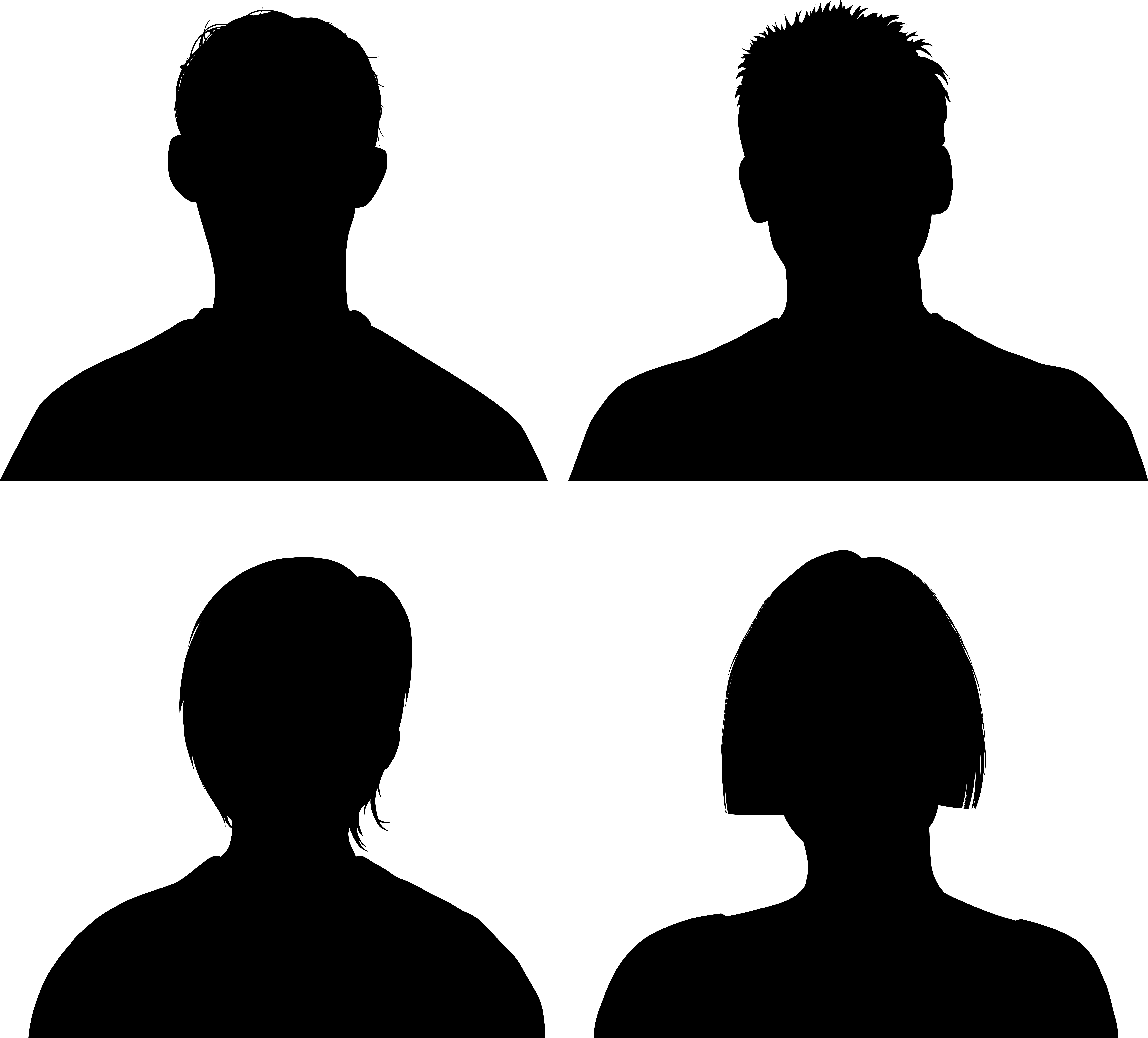 Human face silhouette