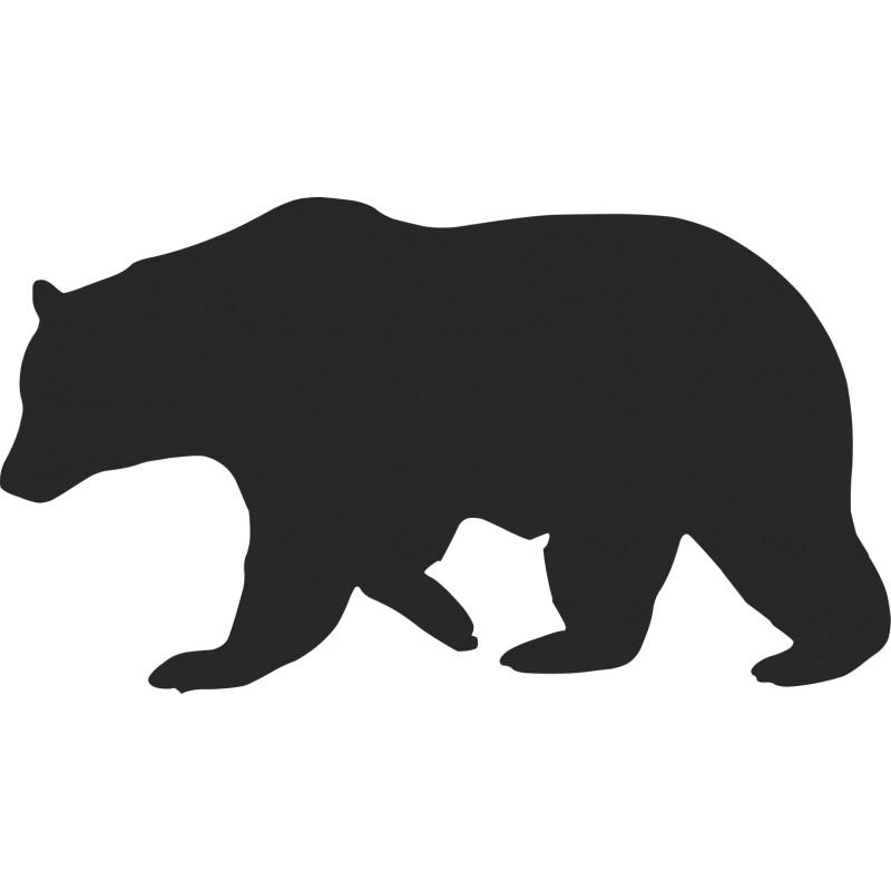 Black Bear Silhouette Pattern