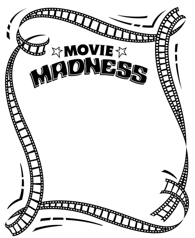 Movie Reel Border - Cliparts.co