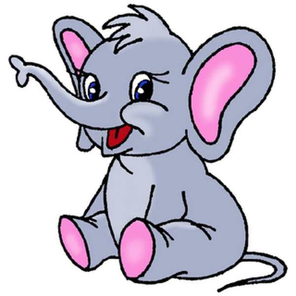 clipart elephant face - photo #42